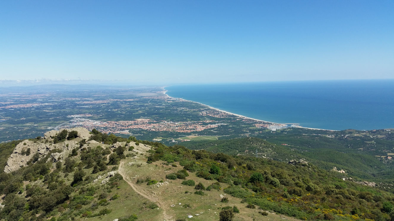 View on the coast to Perpignan